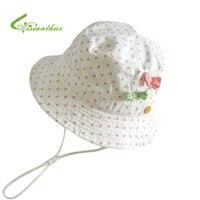 Children Girls Sun Hats Spring Summer Caps Polka Dots Beach Hat Baby Kids Princess Bucket Hat