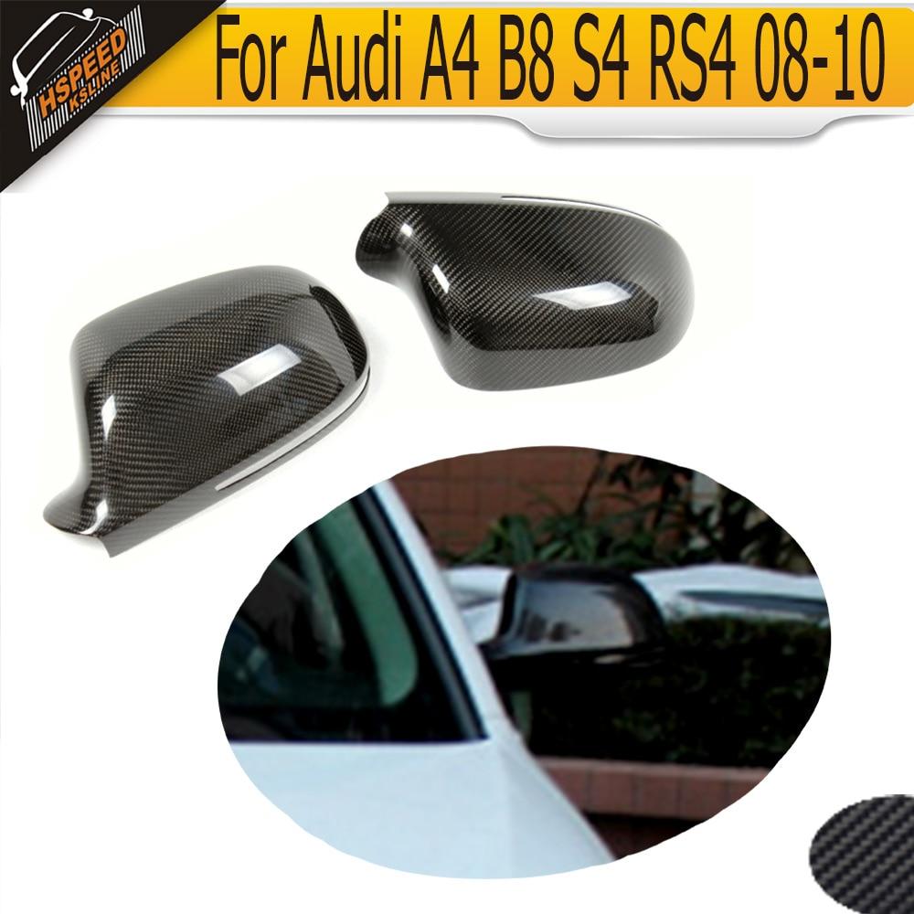 Крышка зеркала волокна углерода крышки для Audi А4 В8 С4 РС4 08-10 без помощи