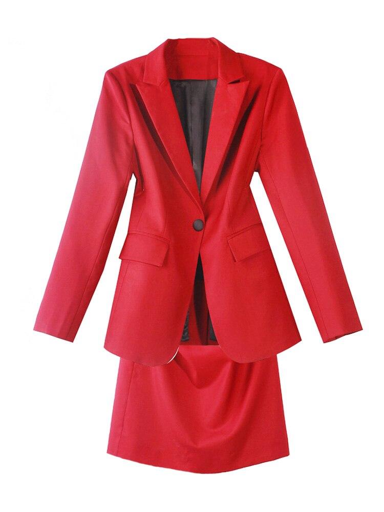 High quality women suits pants suit dress blazer Fashion Suit Female Jacket Two-piece Casual