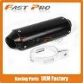 Aluminum 38MM Exhaust Muffler with Clamp For XR50 CRF50 KLX TTR SSR Koyo bosuer 50 110 125 140 150 160 cc Chinese Dirt Pit Bike