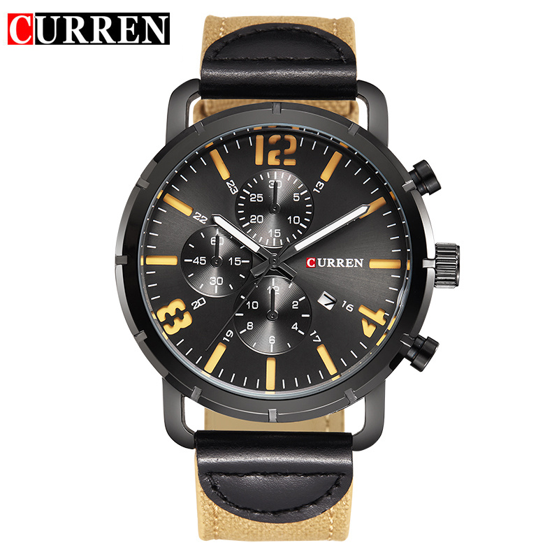 CURREN watches font b men b font Top Brand fashion watch quartz watch male relogio masculino