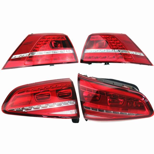 TUKE OEM A set VW Golf 2013-2015 MK7 MKVII Red LED taillight Tail box 5G0 945 308 5G0 945 307 5G0 945 207 5G0 945 208