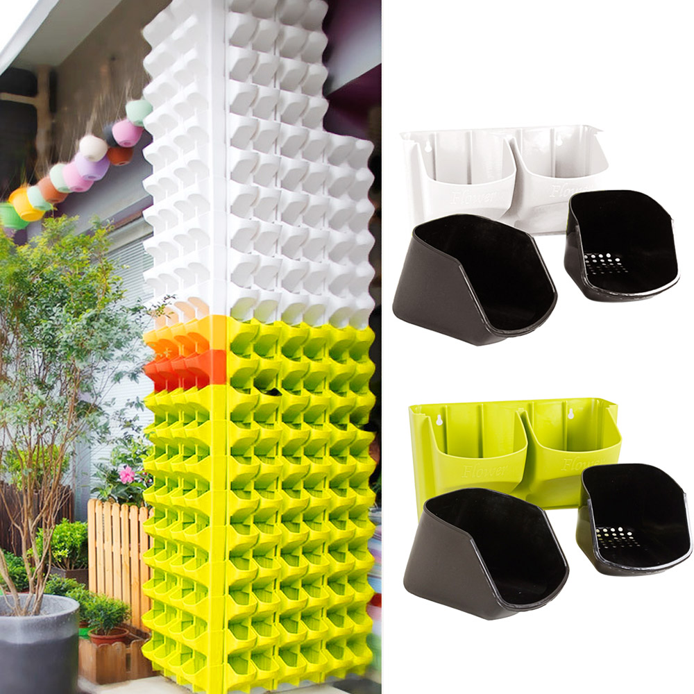 behokic montado en la pared vertical colgando plantadores maceta con ranura para barandillas de