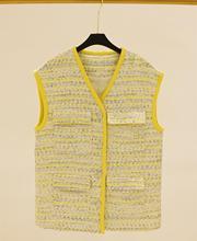 2019 spring summer Women's sleeveless tweed jackets coat A412