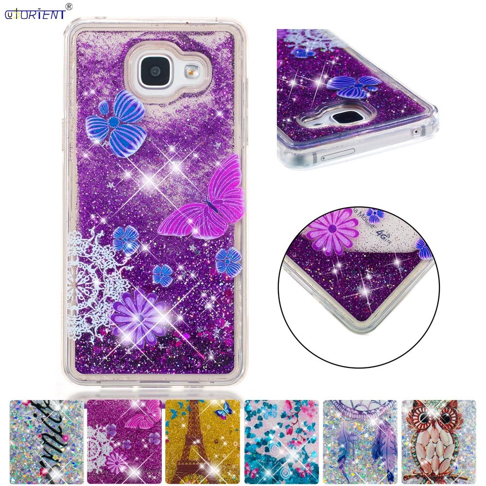 Modest Soft Cover For Samsung Galaxy A5 2016 Bling Glitter Dynamic Quicksand Liquid Phone Case Sm-a510f Sm-a510f/ds Sm-a510x Back Cases Cellphones & Telecommunications