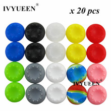 20 pcs Silicone Analog Stick Grips for Dualshock 4 PS4 Pro Slim Controller for Xbox One X S Elite Joystick Thumbsticks Caps