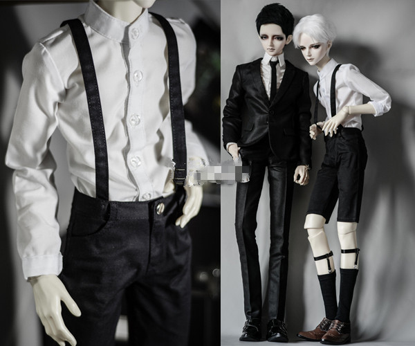 Cool All-match Strap Pants Bib Pants for 1/6 1/4 MSD 1/3 SD10 SD13 SD17 Uncle BJD Doll Clothes CMB63 new handsome fashion stripe black gray coat pants uncle 1 3 1 4 boy sd10 girl bjd doll sd msd clothes