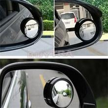2Pcs רכב רכב כתם עיוור אזור מת מראה עגולה קטנה אחורי מראה אוטומטי צד 360 רחב זווית עגול קמור