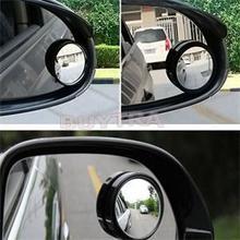Espejo retrovisor redondo para coche, 2 uds., ángulo amplio de 360 grados, convexo redondo