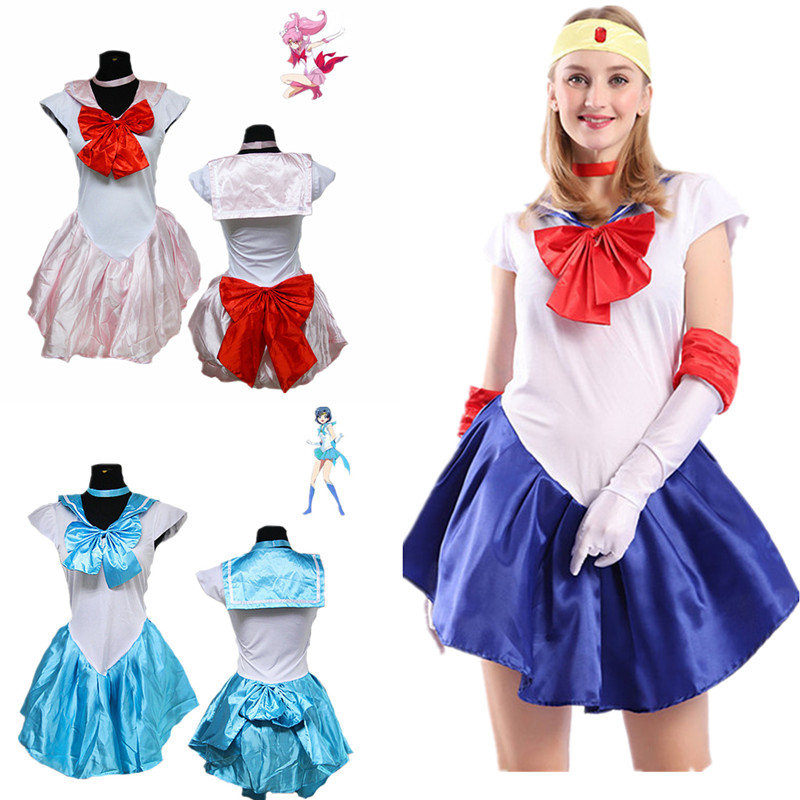 Adult Lady Anime Sailor Moon Minako Aino / Sailor Venus Cosplay Costume Custom Dress High Quality Holiday Party Dress Seven Colo