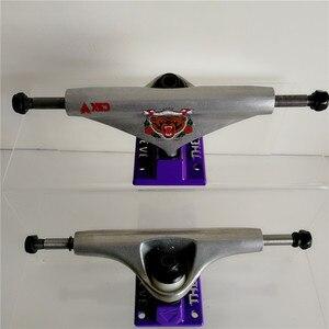 "Image 2 - Pro THEEVE CSX Destructo Pro Skate board Trucks Skateboarding Trucks de Skate with Dark/Silver/White color  5.25"" Inch"