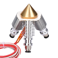 Diamond 3D Printer Extruder Reprap Hotend 3D V6 Heatsink 3 IN 1 OUT Multi Nozzle Extruder