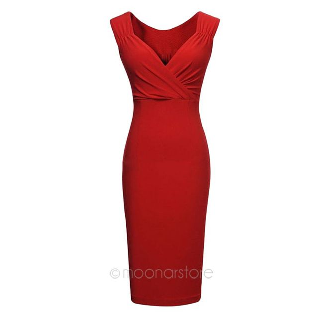Women's Casual Sleeveless V-Neck Dress
