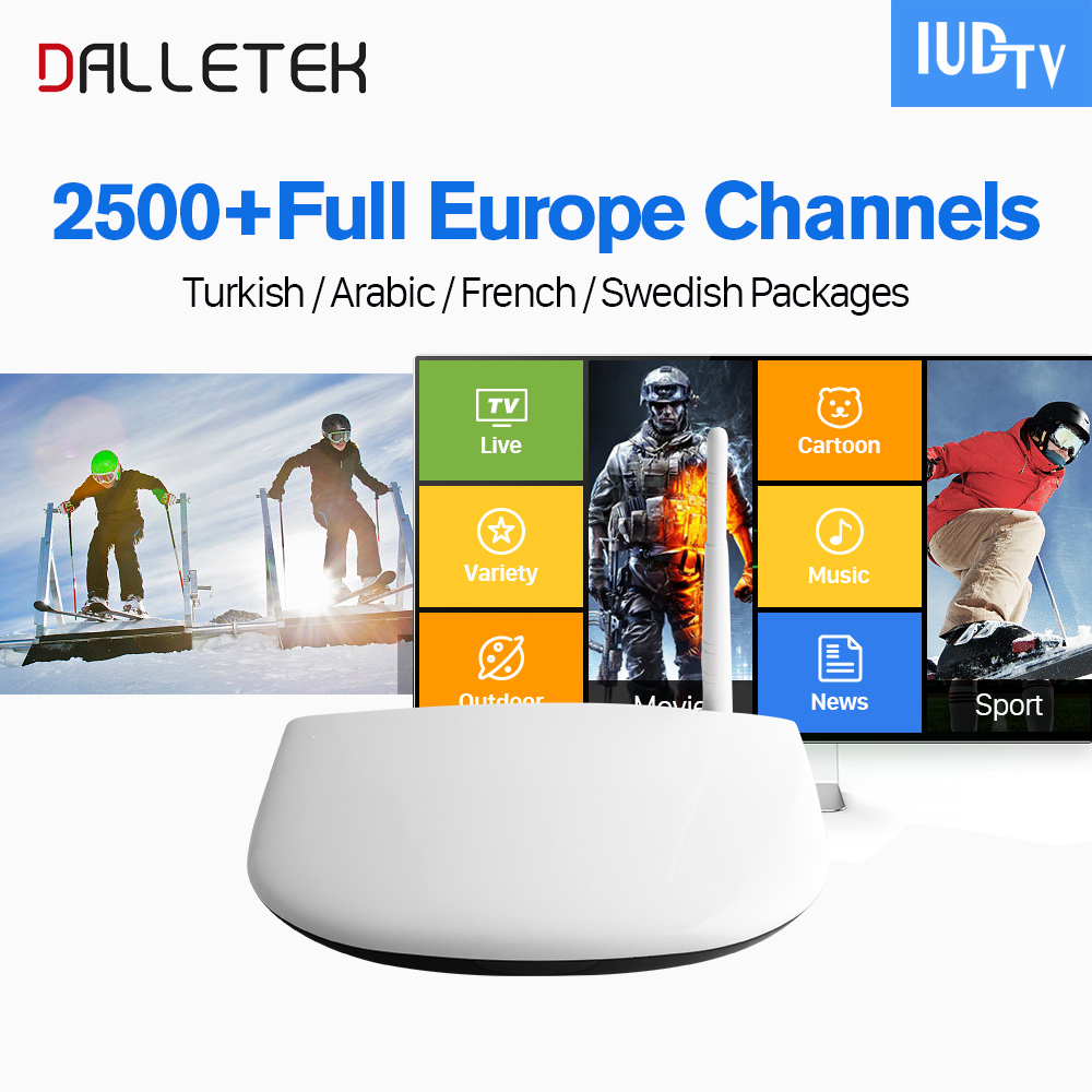 Dalletektv Q1304 Europe IPTV Box Quad Core IUDTV IPTV Subscription Italy England Germany Spain Greece Sweden VIP Sports IPTV germany england