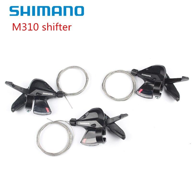 SHIMANO SL-M310 ALTUS RAPID FIRE 3X8 VELOCITÀ 24 NERO del CAMBIO DELLA BICICLETTA SET MTB M310 cambio 24 di velocità di Trasporto trasporto libero