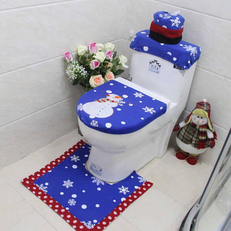 Miraculous 1 2 3Pcs Bath Mat Toilet Seat Cover Christmas Rug Tank Lid Towel Cover Set Christmas Decoration Navidad Xmas Party Supplies Forskolin Free Trial Chair Design Images Forskolin Free Trialorg