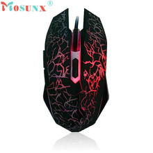 Factory price MOSUNX Hot Selling Professional Ergonomically Colorful Backlight 4000DPI Optical Wired Gaming Mouse  Free Shipping