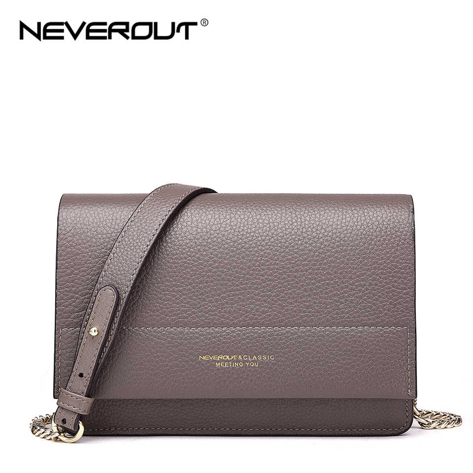 Detail Feedback Questions about NEVEROUT Soft Genuine Leather Bag for Women  Ladies Small Messenger Purse Solid Flap Shoulder Sac Chain Crossbody Mini  ... 4505f62fa0f8c