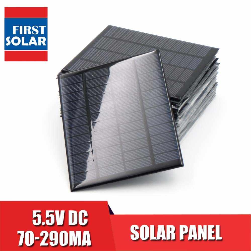 Solar Panel 5.5V Mini Solar System DIY For Battery PV Cell Phone Chargers Portable 70mA 80mA 100mA 110mA 160mA 180mA 291mA
