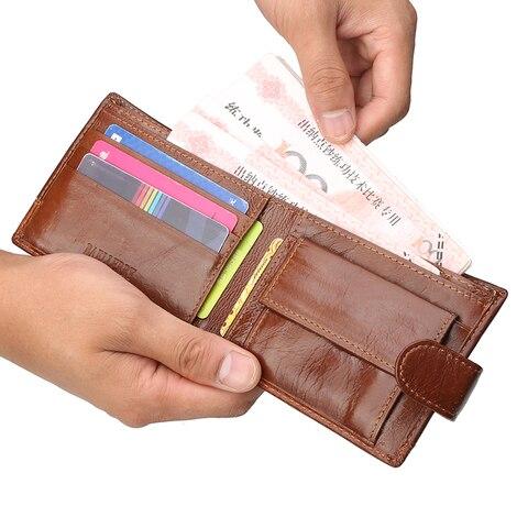 Famous Luxury Brand Men Wallet Genuine Leather Card Holder Wallet Male Coin Pocket Short Clutch Wallets Leather Bifold Men Purse Islamabad