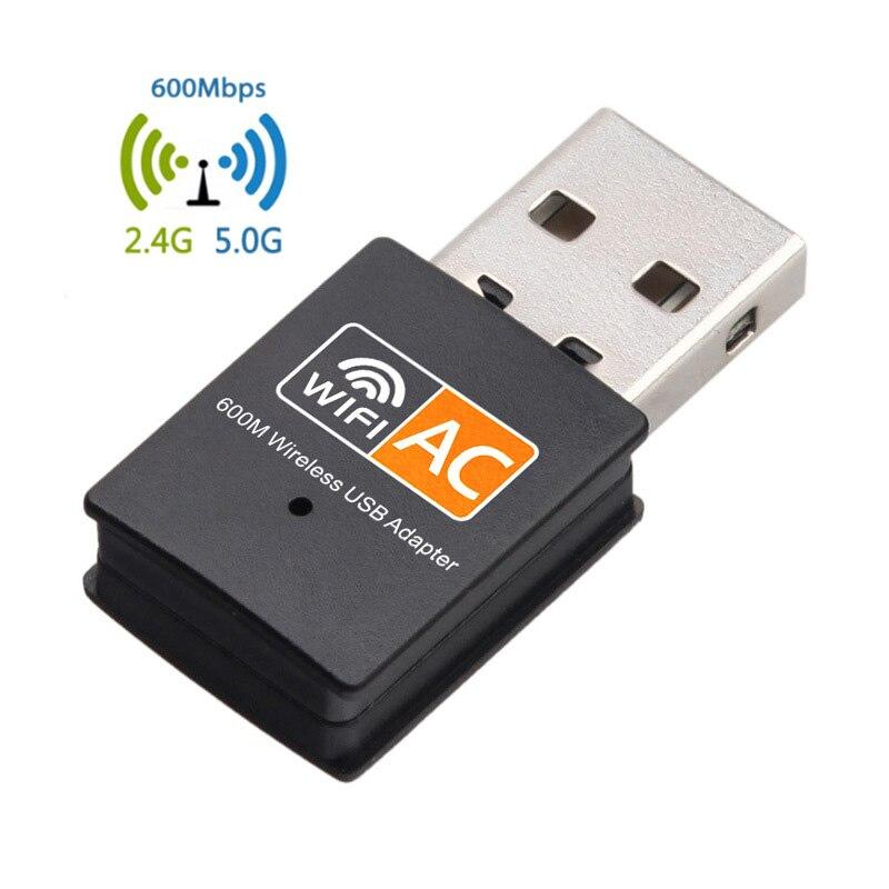 600 Мбит/с USB WiFi адаптер, двухдиапазонный 2,4G/5.G AC Беспроводной Ethernet Сетевая карта USB Wifi Dongle wifi Приемник 802.11ac