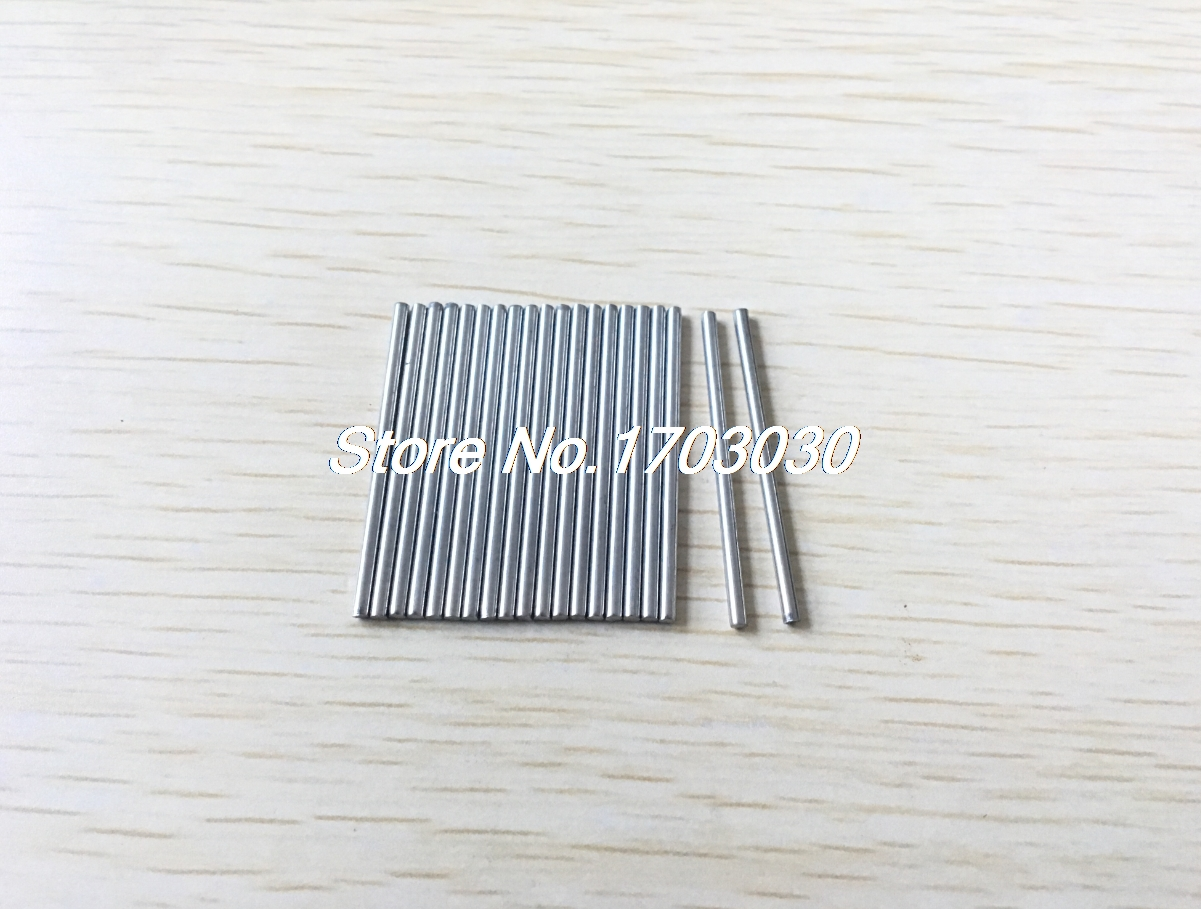 20pcs Silver Tone Stainless Steel 50 x 2.5mm Round Rod Shaft for RC Model rc helicopter 40mm x 3mm stainless steel ground shaft round rod 20pcs
