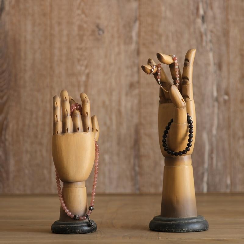 Americano país Retro Decoración forma de la mano hogar resina ...