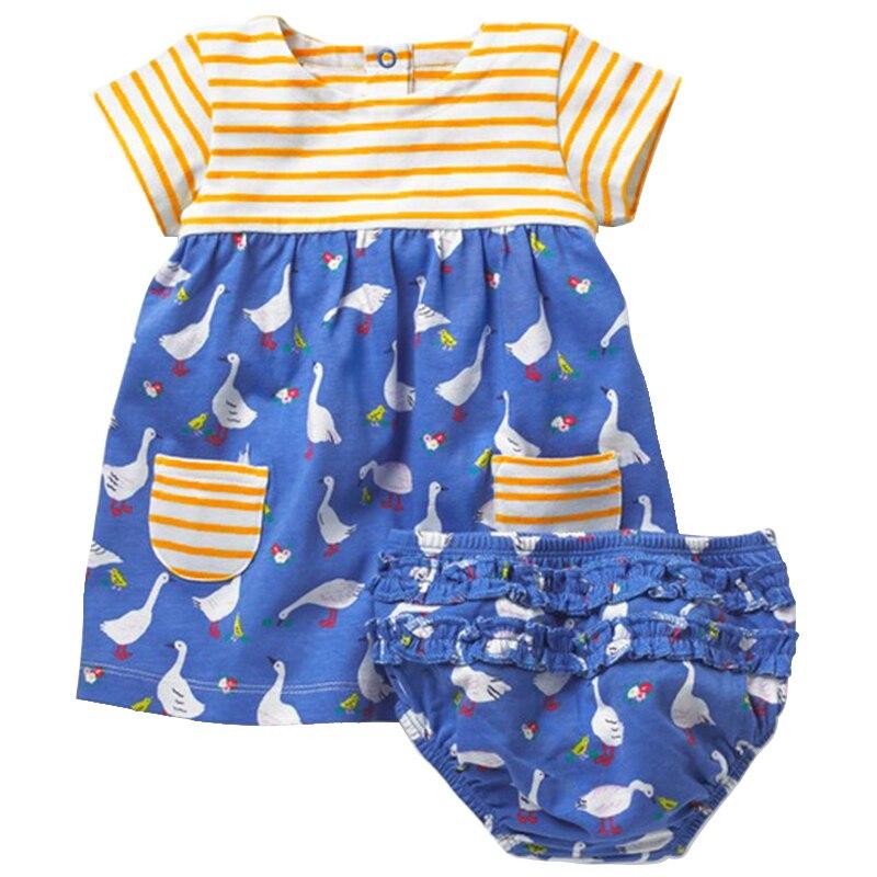 Sonnig 2018 Marke Baby Kleid Sommer Baby Mädchen Kleidung + Unterwäsche 100% Baumwolle Kinder Baby Kleidung Für Neugeborene 6 M- 4 T Geburtstag Party Kleid