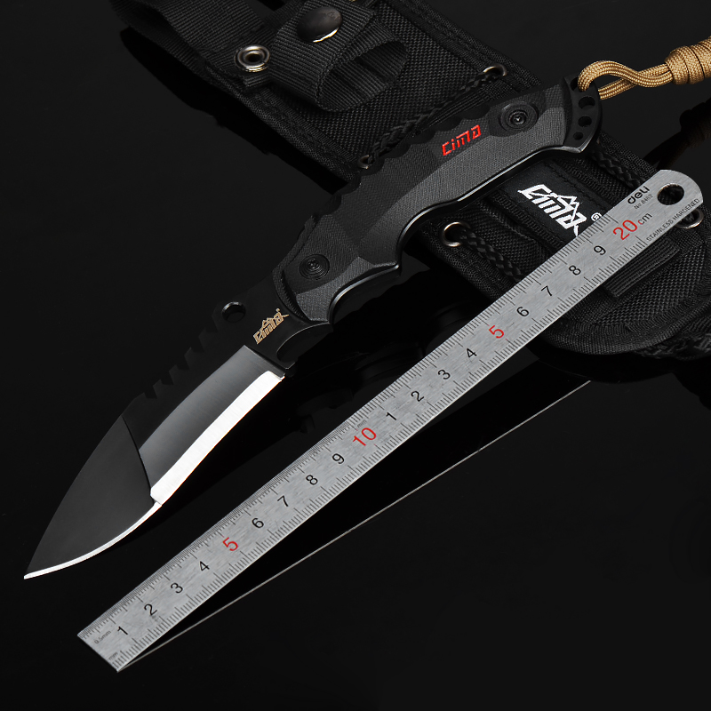 CIMA military Fixed Blade fighting knives, outdoor survival knife,G10 handle,AUS-8 steel image