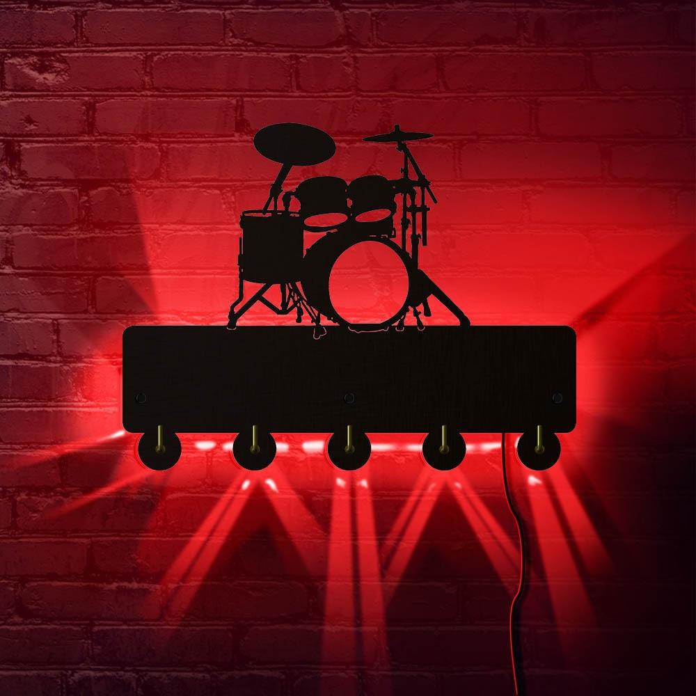 Negro Wall Mounted I Love Music Rock Percha de Madera Ropa Sombrero Gancho de Llave//Perchero//Gancho de Pared Decoraci/ón del hogar Pegatinas de Pared Cocina Ba/ño Gancho de Toalla