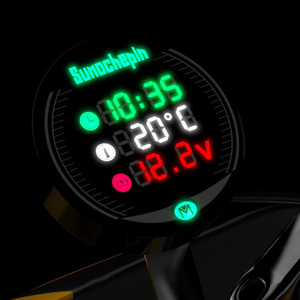 Image 3 - Universal Motorcycle Multi Function LED Digital Voltmeter Clock Meter Thermometer Display instrument