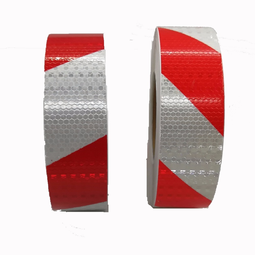 Commercial Grade Reflective tape sticker for truck White and Red truck conspicuity marking tape 5CMx45M
