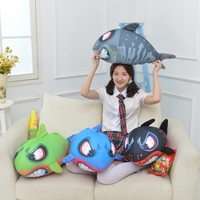 New Style Blue Shark & Dolphin Plush Toys Big Fish Cloth doll Whale stuffed plush animals doll Children Birthday Gift