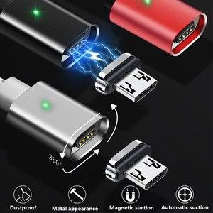 Image 3 - Üçü Bir Arada Manyetik Enayi Veri Kablosu Tipi C Uygulama Apple Android Dokuma Şarj Manyetik Kablo Yayan göstergesi