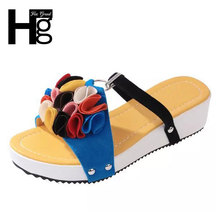 HEE GRAND Slippers Shoes Women Sandals 2017 New Butterfly Woman Shoe Size 35-39 XWT630