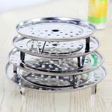 4 Ukuran Stainless Food Steamer Uap Rak Laci Kitchen Steamer Tray Berdiri Mangkuk Buah Sayur Steamer Keranjang #0926(China)