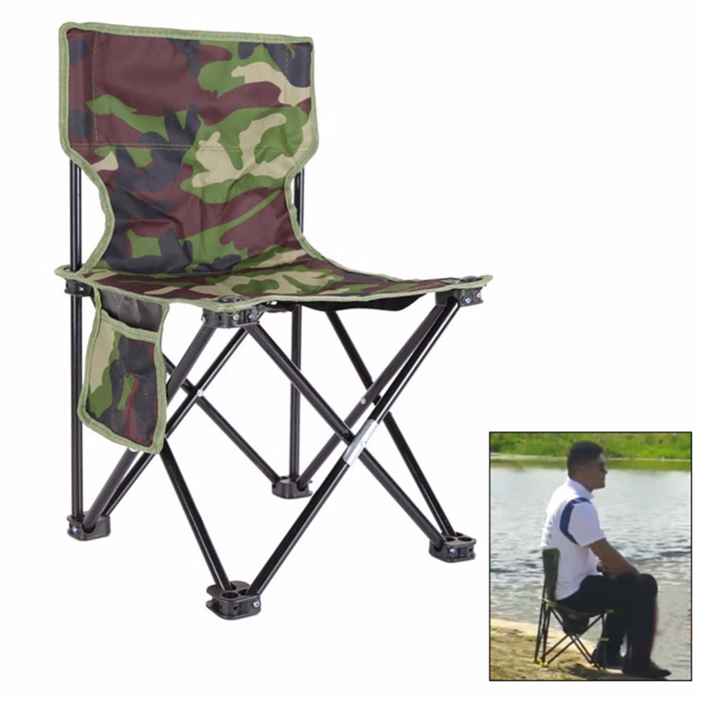 2018 Portable Camouflage Folding Fishing Chair Seat for Outdoor Camping BBQ Leisure Picnic Beach Chair Other Fishing Tools ...