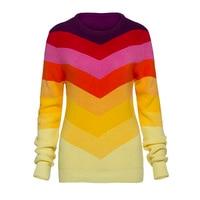 Sisjuly Women S Casual Sweater 2017 Knitwear Color Block O Neck Thin Sweater Warm Sweater Autumn