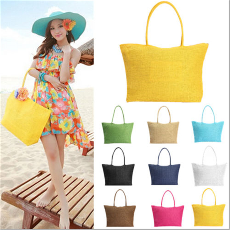 2017 Hot New Design Straw Popular Summer Style Weave Woven Shoulder Tote Shoppin