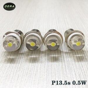 Image 3 - 2pcs P13.5s 0.5w DC3V 4.5V 6V עבור led לפידים פנס הנורה גבוהה בהירות חירום העבודה אור 0.5 ואט הנורה