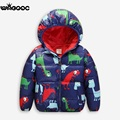 2016 New Dinosaur Hooded Girls Boys Winter Coat Long Sleeve Boys Winter Jacket WindProof Children Kids Winter Jacket 4 1-7 Years