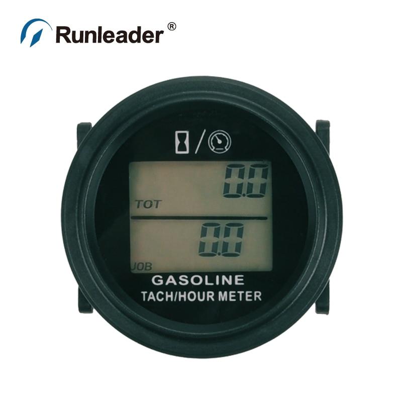 Runleader RL HM005L Digital Hour Meter Tachometer Gauge for MOTOR paramotor ATV glider tractor cultivator MARINE