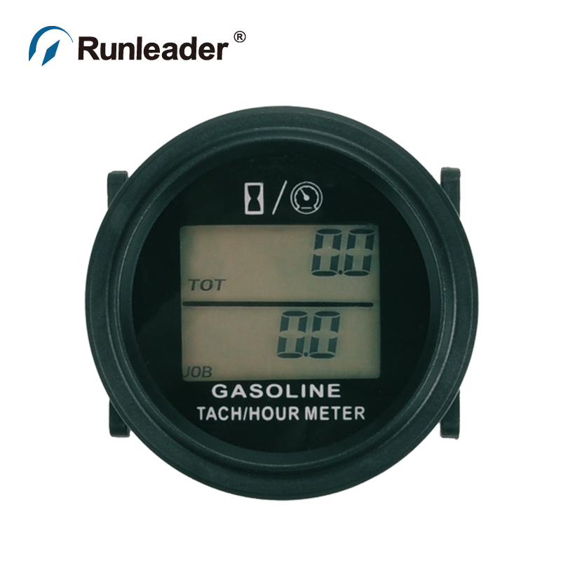 Runleader RL-HM005L Digital Hour Meter Tachometer Gauge for MOTOR paramotor ATV glider tractor cultivator MARINE lawn mower Boat запчасти и аксессуары для мотоциклов runleader lcd rl hm016b