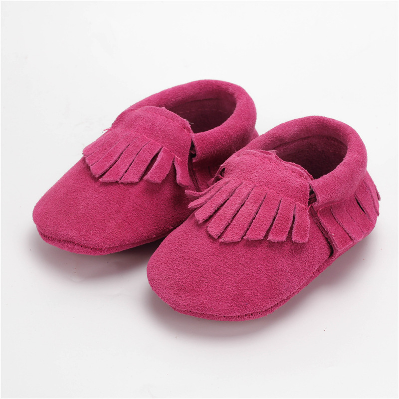 Nieuwe eerste Walkers echt leer Baby Mocassins zachte baby schoenen Chaussure Bebe pasgeboren schoenen