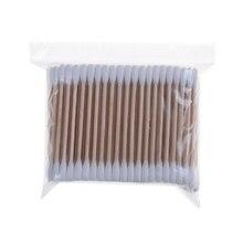 200 шт деревянные ручки Двойные наконечники ватные палочки
