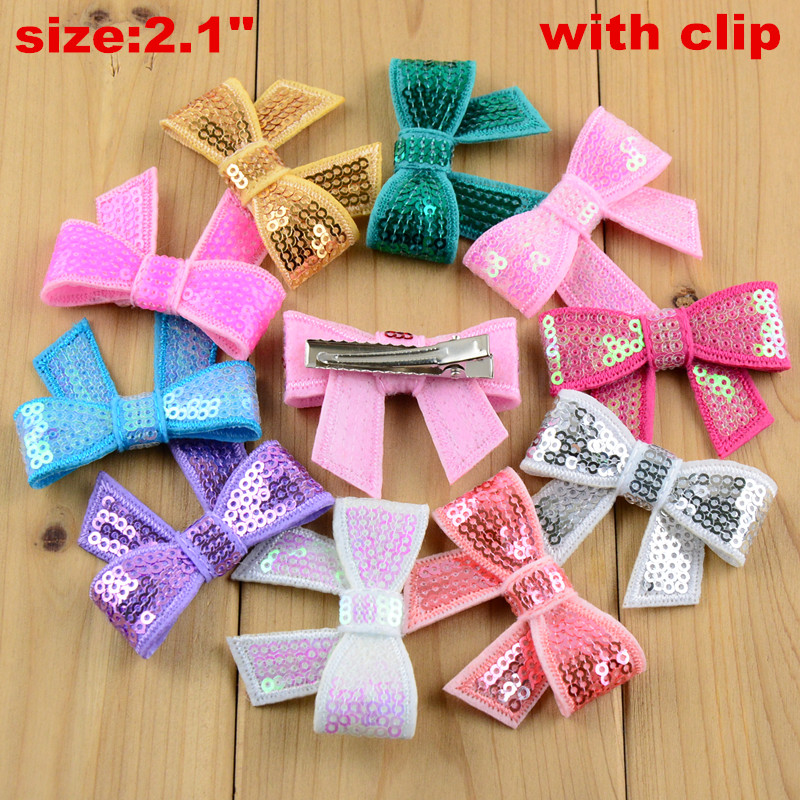 1Pc Children/'s embroidered glitter sequins hairpin Bow Bowknot Hair Clip Hairpin