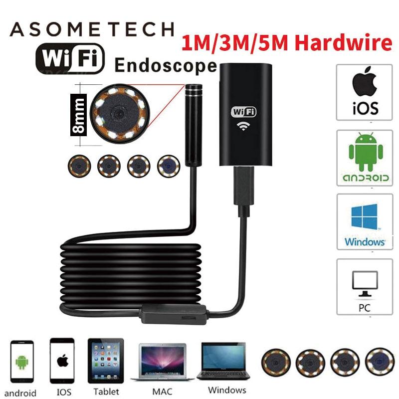 Wifi Endoscope Camera 720P Camcorder Borescope Camera Endoscopio Semi Rigid Hard Snake Inspection Tube Android IOS Micro Cameras