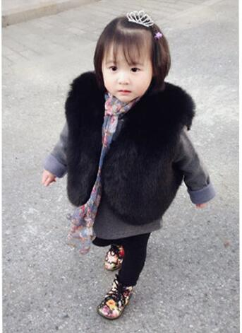 Girls Vest Faux Fur Girl Out Wears Autumn Winter Children Clothes kids Outfits Toddler Baby Girl Vest Coat colete bebek giyim