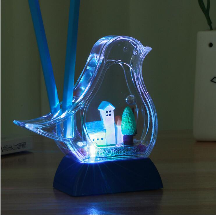 creatieve duiven kleur veranderende verlichting middellandse potloden desktop decoraties decoratie kinderen geschenken in creatieve duiven kleur