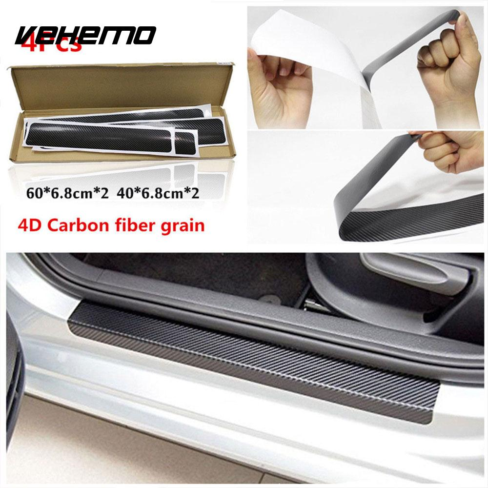 4D Anti Kick Door Sill Decal Vehicle SUV Cover Automobile Anti Scratch Plate  Car Styling Scratchproof On Aliexpress.com | Alibaba Group